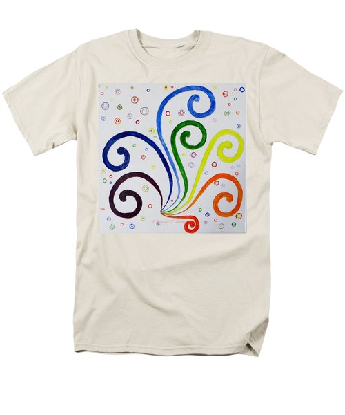 Swirls Men's T-Shirt  (Regular Fit) by Sonali Gangane