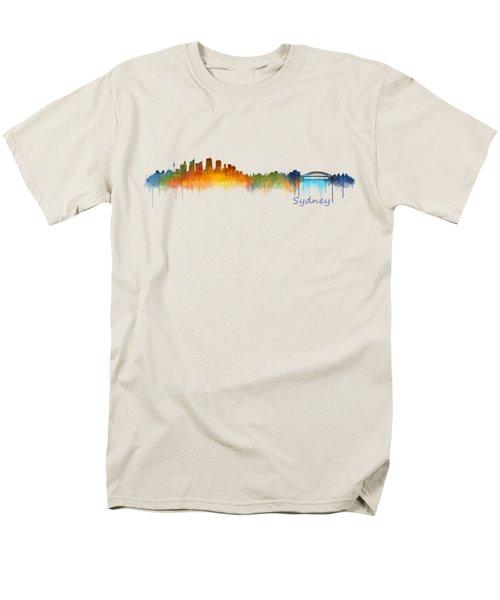 Sydney City Skyline Hq V2 Men's T-Shirt  (Regular Fit) by HQ Photo