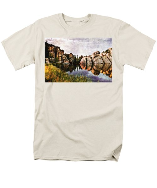 Sylvan Lake - Black Hills Men's T-Shirt  (Regular Fit) by Ellen Heaverlo