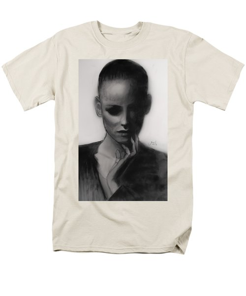 Men's T-Shirt  (Regular Fit) featuring the painting Temporary Secretary by Jarko Aka Lui Grande