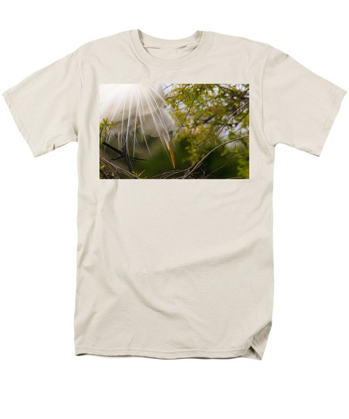 Men's T-Shirt  (Regular Fit) featuring the photograph Tending To The Nest by Kelly Marquardt