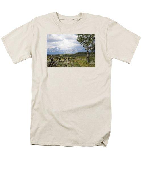 Teton Ranch Men's T-Shirt  (Regular Fit) by Diane Bohna