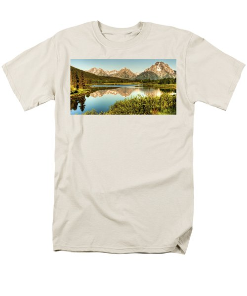 Men's T-Shirt  (Regular Fit) featuring the photograph Teton Reflections by Rebecca Hiatt