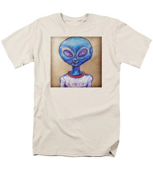 The Alien Is L-i-v-i-n Men's T-Shirt  (Regular Fit)