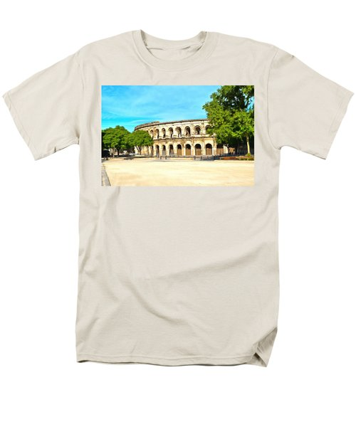 The Amphitheatre Nimes Men's T-Shirt  (Regular Fit) by Scott Carruthers