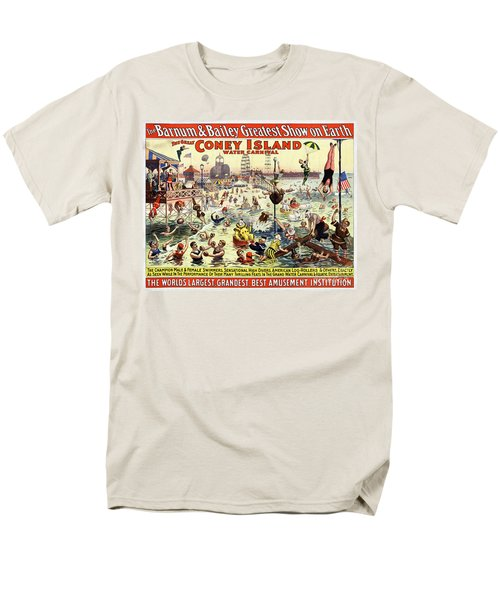 The Barnum And Bailey Greatest Show On Earth The Great Coney Island Water Carnival Men's T-Shirt  (Regular Fit) by Carsten Reisinger