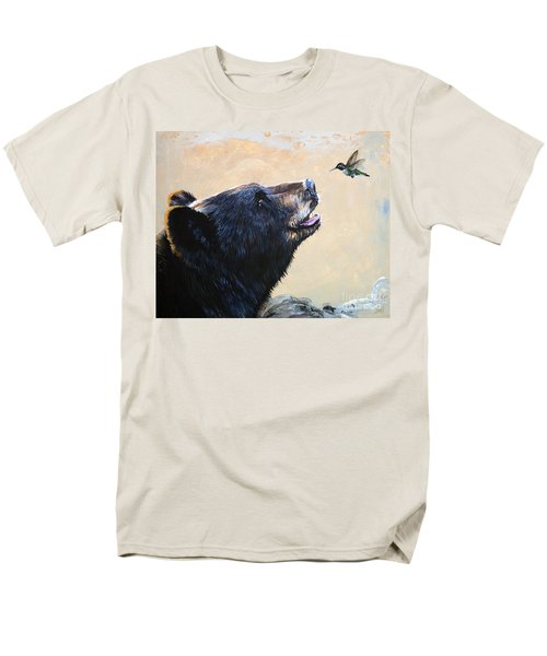 The Bear And The Hummingbird Men's T-Shirt  (Regular Fit) by J W Baker