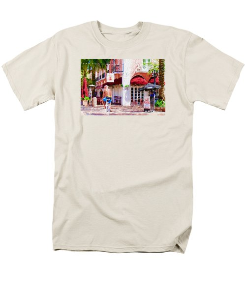 Men's T-Shirt  (Regular Fit) featuring the painting The Biker by Judy Kay