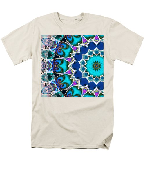 Men's T-Shirt  (Regular Fit) featuring the digital art The Blue Collective 01b by Wendy J St Christopher