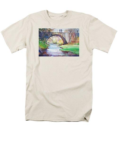The Bridge Over Brewster Garden Men's T-Shirt  (Regular Fit) by P Anthony Visco