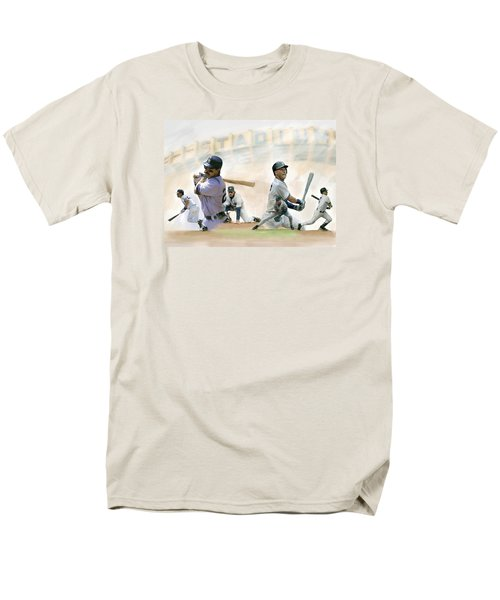 The Captains II Don Mattingly And Derek Jeter Men's T-Shirt  (Regular Fit) by Iconic Images Art Gallery David Pucciarelli