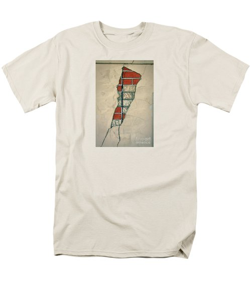 The Cracked Wall Men's T-Shirt  (Regular Fit) by Nareeta Martin