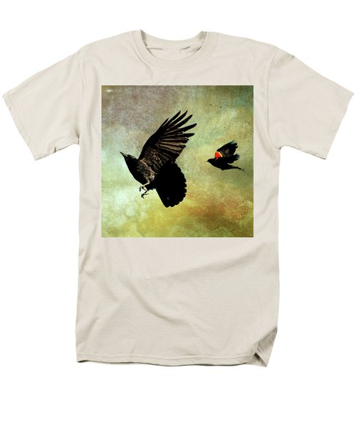 The Crow And The Blackbird Men's T-Shirt  (Regular Fit) by Peggy Collins