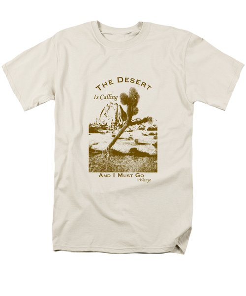 Men's T-Shirt  (Regular Fit) featuring the digital art The Desert Is Calling And I Must Go - Brown by Peter Tellone