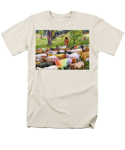 Men's T-Shirt  (Regular Fit) featuring the painting The Good Shepherd by Anne Gifford