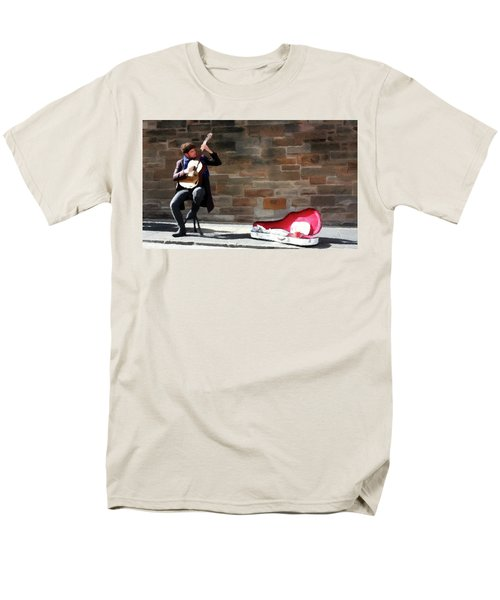 Men's T-Shirt  (Regular Fit) featuring the painting The Guitarist by David Dehner