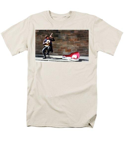The Guitarist Men's T-Shirt  (Regular Fit) by David Dehner