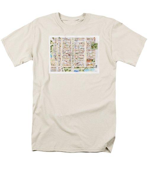 The Harlem Map Men's T-Shirt  (Regular Fit) by AFineLyne