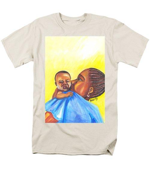 The Kiss Of A Mother In Senegal Men's T-Shirt  (Regular Fit) by Emmanuel Baliyanga