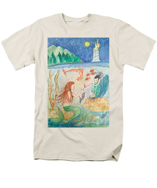 The Little Mermaid Men's T-Shirt  (Regular Fit) by Veronica Rickard