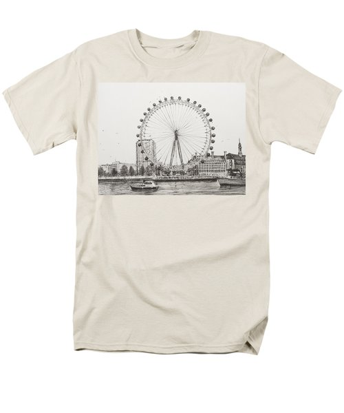 The London Eye Men's T-Shirt  (Regular Fit) by Vincent Alexander Booth