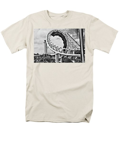 The Loop Black And White Men's T-Shirt  (Regular Fit) by Douglas Barnard
