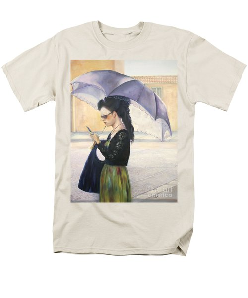 Men's T-Shirt  (Regular Fit) featuring the painting The Message by Marlene Book