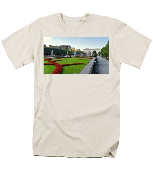 Men's T-Shirt  (Regular Fit) featuring the photograph The Mirabell Palace In Salzburg by Silvia Bruno