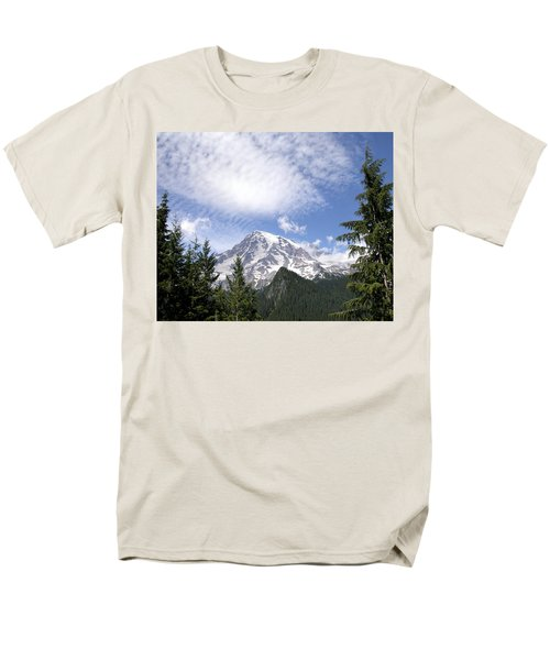 The Mountain  Mt Rainier  Washington Men's T-Shirt  (Regular Fit) by Michael Bessler