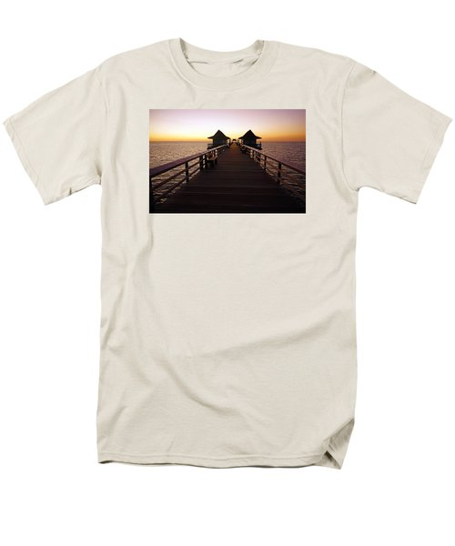 The Naples Pier At Twilight - 01 Men's T-Shirt  (Regular Fit) by Robb Stan