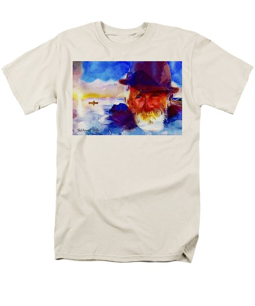 Men's T-Shirt  (Regular Fit) featuring the painting The Old Man And The Sea by Ted Azriel