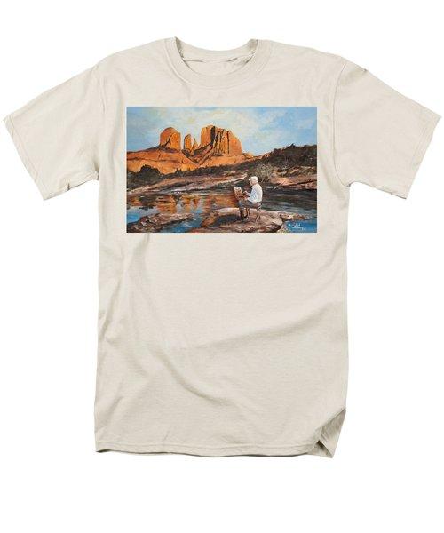 The Painter Woods Men's T-Shirt  (Regular Fit) by Alan Lakin