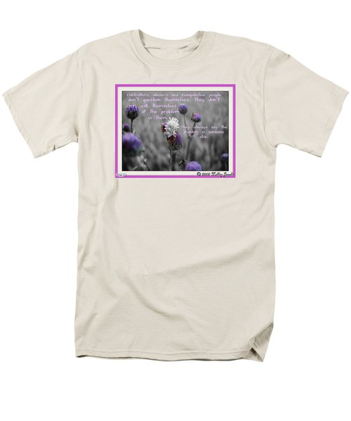 Men's T-Shirt  (Regular Fit) featuring the digital art The Problem Is Them by Holley Jacobs