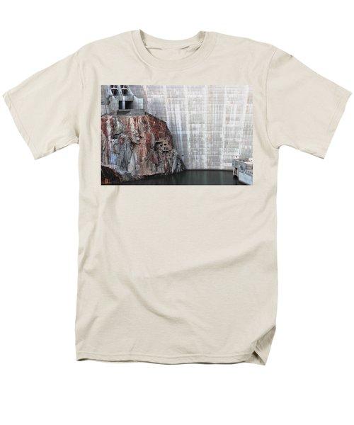 The Rock Behind The Dam Men's T-Shirt  (Regular Fit) by Natalie Ortiz