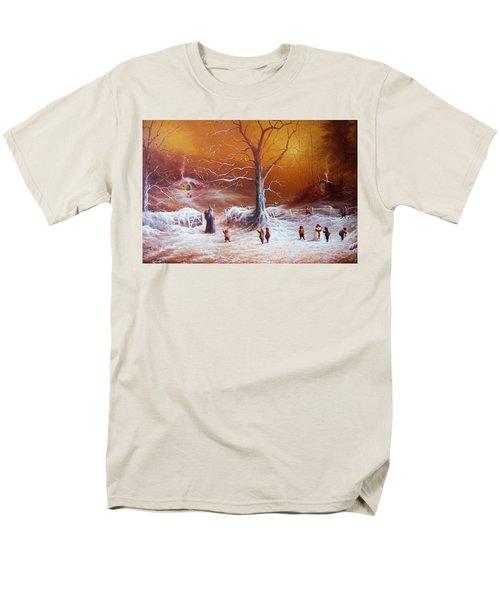 The Shire First Snowfall Men's T-Shirt  (Regular Fit) by Joe Gilronan