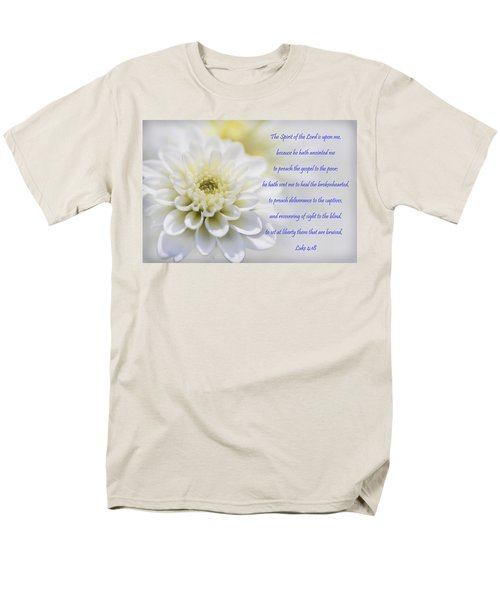 The Spirit Of The Lord Is Upon Me Men's T-Shirt  (Regular Fit) by Kathy Clark