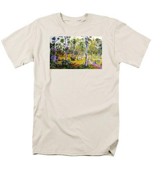 Men's T-Shirt  (Regular Fit) featuring the painting The Teak Garden by Jason Sentuf