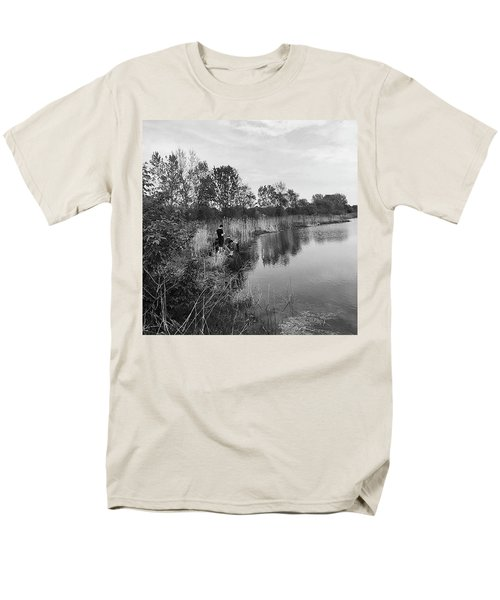 Moving The Water Men's T-Shirt  (Regular Fit) by Frank J Casella