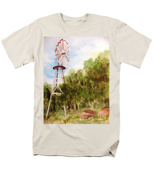The Windmill  Men's T-Shirt  (Regular Fit) by Vicki  Housel