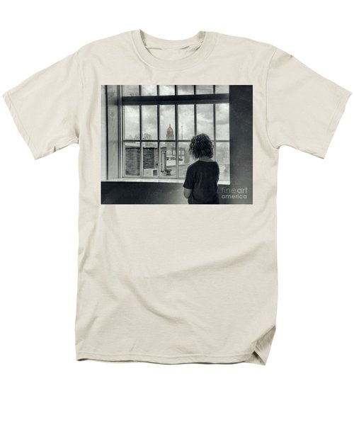 The World Outside My Window Men's T-Shirt  (Regular Fit) by Laurinda Bowling