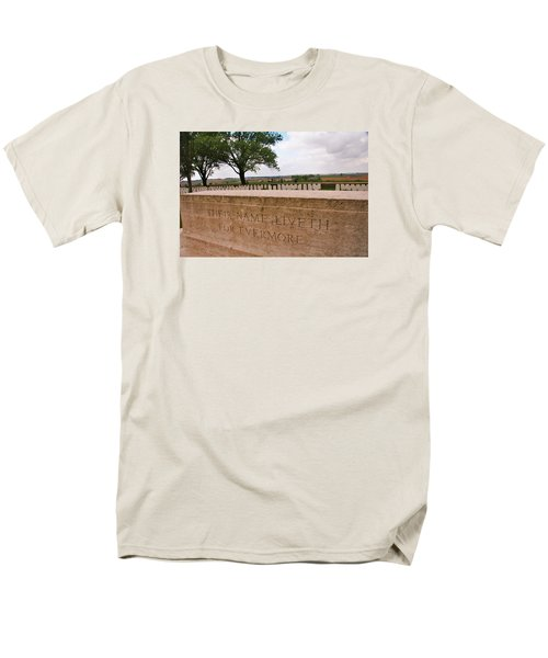 Men's T-Shirt  (Regular Fit) featuring the photograph Their Name Liveth For Evermore by Travel Pics