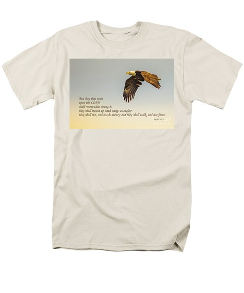 They That Wait Upon The Lord Men's T-Shirt  (Regular Fit) by John Roberts
