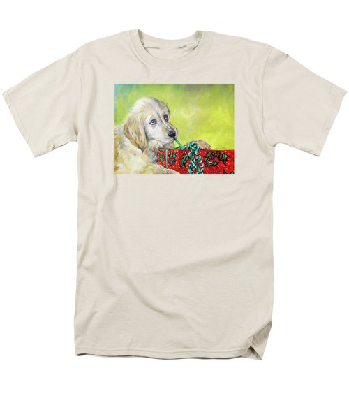 Men's T-Shirt  (Regular Fit) featuring the painting This Is Mine? Right? by Donna Tucker