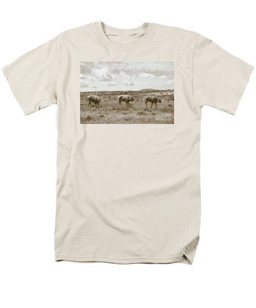 Men's T-Shirt  (Regular Fit) featuring the photograph Three Buffalo Calves by Rebecca Margraf