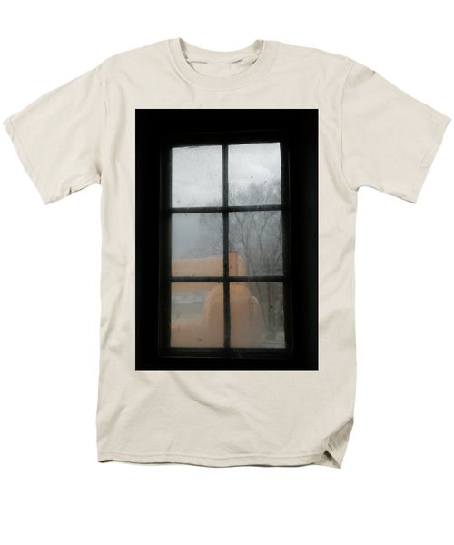 Men's T-Shirt  (Regular Fit) featuring the photograph Through A Museum Window by Marilyn Hunt