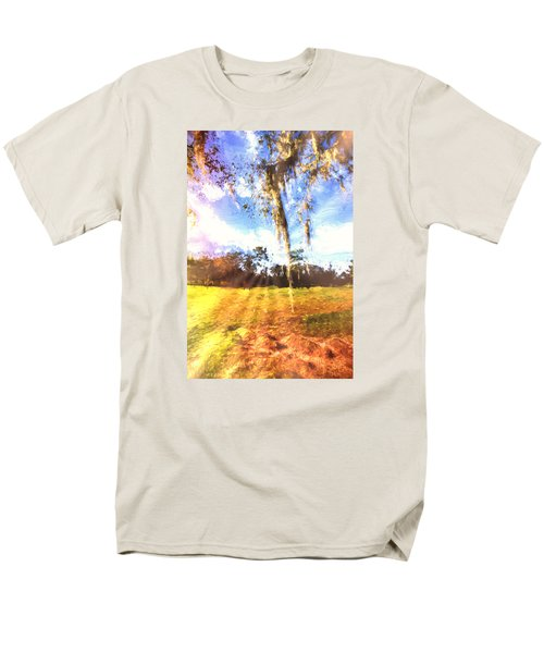 Men's T-Shirt  (Regular Fit) featuring the painting Through The Moss by Annette Berglund
