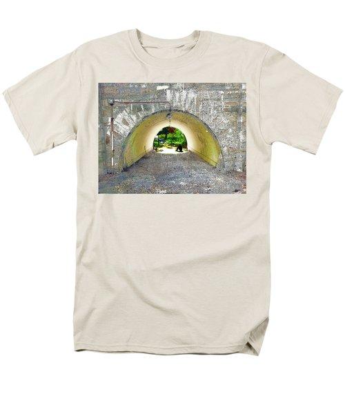 Men's T-Shirt  (Regular Fit) featuring the mixed media Through by Tony Rubino