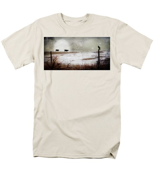 Men's T-Shirt  (Regular Fit) featuring the photograph 'til The Cows Come Home by Theresa Tahara