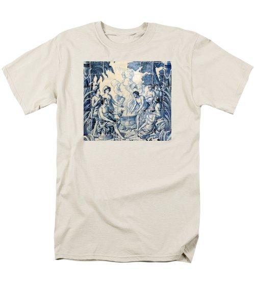 Tile Art Men's T-Shirt  (Regular Fit) by John Potts