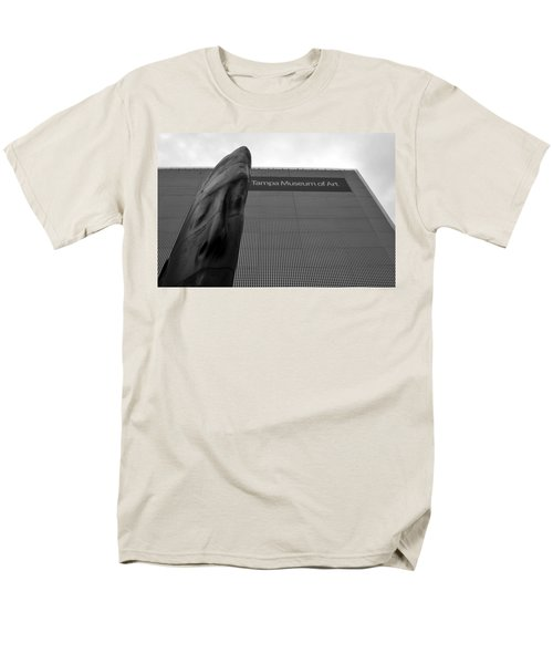 Men's T-Shirt  (Regular Fit) featuring the photograph Tampa Museum Of Art Work A by David Lee Thompson